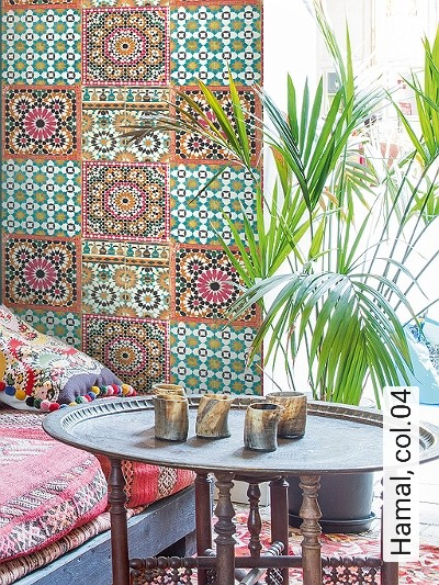 Hamal,-col.04-Kachel-Orientalisch-Orientalisch-Weiß-Multicolor