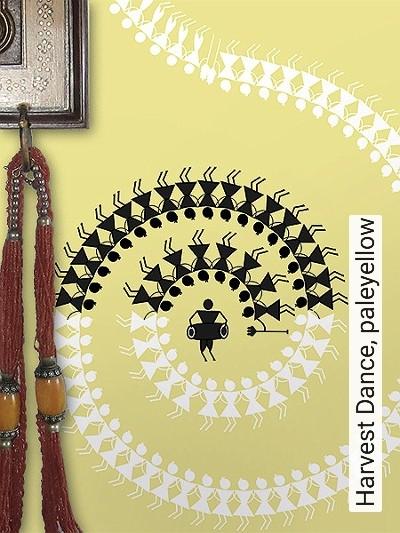 Harvest-Dance,-paleyellow-Ornamente-Figuren-Moderne-Muster-Orientalisch