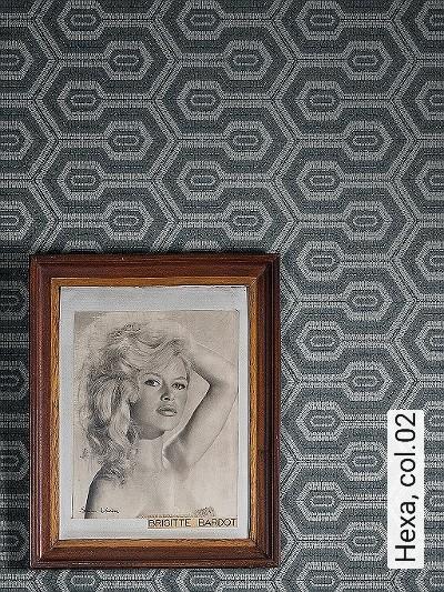 Hexa,-col.02-Quadrate/Rechtecke-Grafische-Muster-Grün-Silber-Grau