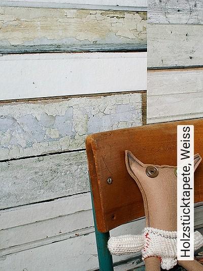 Holzstücktapete,-Weiss-Holz-Moderne-Muster-Grau-Braun-Weiß-Creme