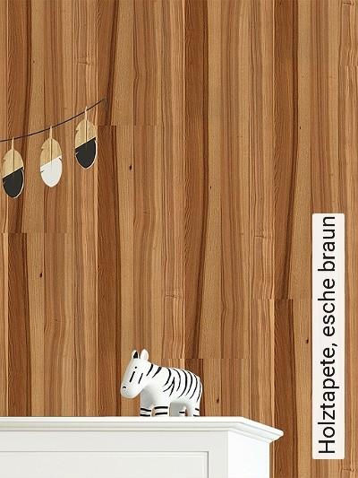 Holztapete,-esche-braun-Holz-Vertäfelung-Moderne-Muster-Braun-Hellbraun