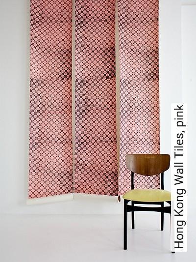 Hong-Kong-Wall-Tiles,-pink-Kreise-Kachel-Moderne-Muster-Grau-Rosa