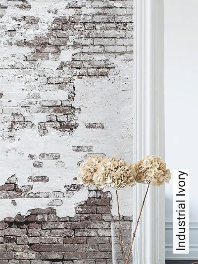 Industrial-Ivory-Stein-Backstein-FotoTapeten-Braun-Weiß