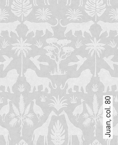 Juan,-col.-80-Tiere-Fauna-KinderTapeten-Grau-Creme