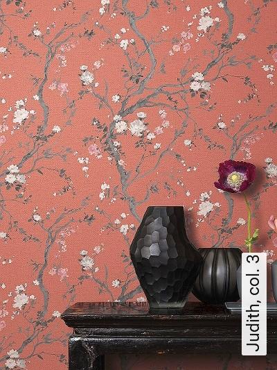 Judith,-col.-3-Blumen-Äste-Florale-Muster-Rot-Anthrazit-Weiß
