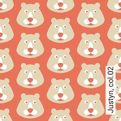 Justyn,-col.02-Tiere-KinderTapeten-Rot-Grau