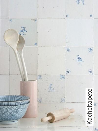 Kacheltapete-Kachel-Moderne-Muster-FotoTapeten-Blau-Weiß-Creme