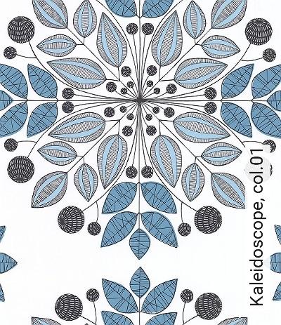 Kaleidoscope,-col.01-Ornamente-Blätter-Moderne-Muster-Schwarz-Weiß-Hellblau