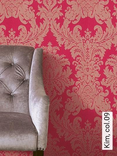 Kim,-col.09-Ornamente-Stoff-Klassische-Muster-Barock-Pink