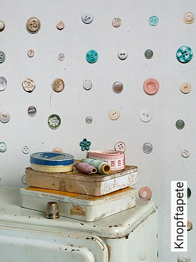 Knopftapete-Knöpfe-Moderne-Muster-FotoTapeten-Grau-Weiß-Multicolor