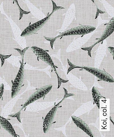 Koi,-col.-4-Tiere-Fische-Fauna-Grün-Creme