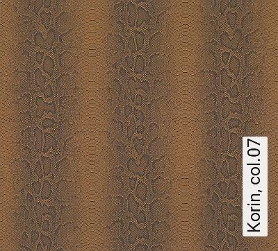 Korin,-col.07-Tierhaut-Moderne-Muster-Braun-Anthrazit-Schwarz-Ocker