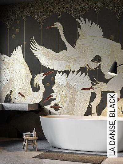 LA-DANSE,-BLACK-Tiere-Vögel-Fauna-FotoTapeten-Multicolor