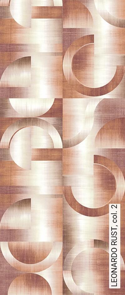 LEONARDO-RUST,-col.-2-Kreise-Farbverlauf-Moderne-Muster-Grafische-Muster-Braun-Orange-Creme