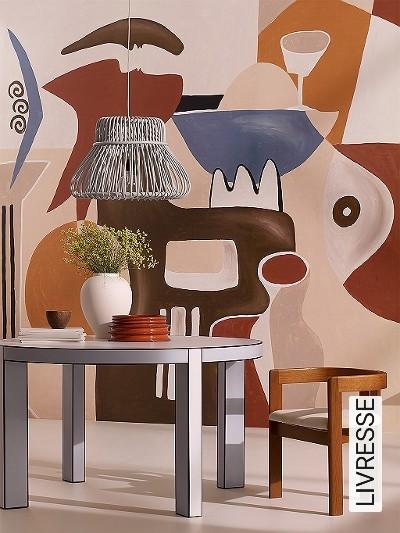 LIVRESSE-Gegenstände-Moderne-Muster-FotoTapeten-Multicolor