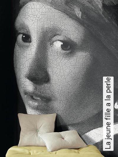 La-jeune-fille-a-la-perle-Gesichter-FotoTapeten-Grau-Schwarz-Weiß