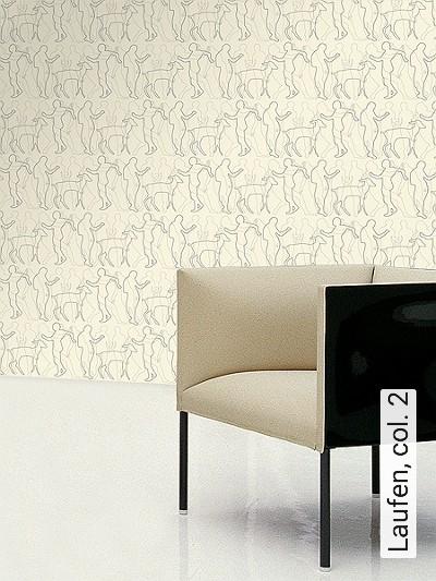 Laufen,-col.-2-Tiere-Figuren-Moderne-Muster-Anthrazit-Creme