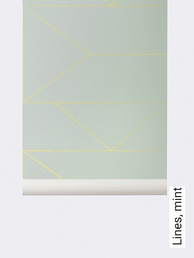 Lines,-mint-Linie-Grafische-Muster-mint