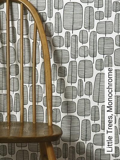 Little-Trees,-Monochrome-Blätter-20-50er-Moderne-Muster-Schwarz-Weiß-Schwarz-und-Weiß