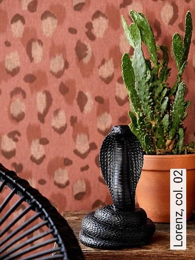 Lorenz,-col.-02-Tierhaut-Graphisch-Moderne-Muster-Rot-Braun-Creme