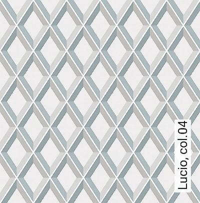 Lucio,-col.04-Rauten-Grafische-Muster-Weiß-Creme-Hellbraun-petrol