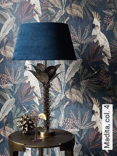 Madita,-col.-4-Blumen-Tiere-Blätter-Vögel-Fauna-Florale-Muster-Multicolor