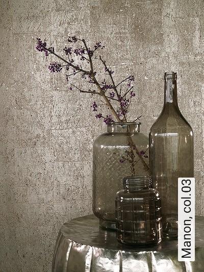 Manon,-col.03-Naturfaser-Kork-Textil-&-NaturTapeten-Gold-Hellbraun