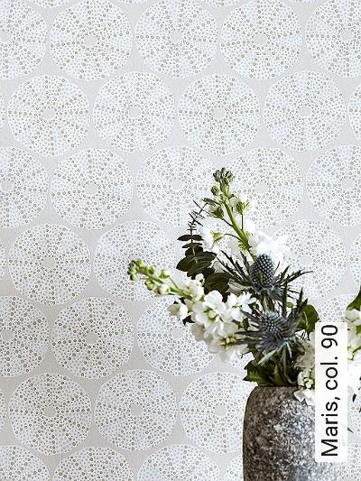 Maris,-col.-90-Kreise-Grafische-Muster-Silber-Weiß-Creme