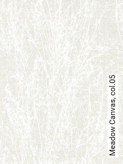 Meadow-Canvas,-col.05-Äste-Schemen/Silhouetten-Florale-Muster-Weiß-Creme