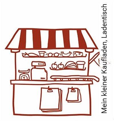Mein-kleiner-Kaufladen,-Ladentisch-KinderTapeten-Rot