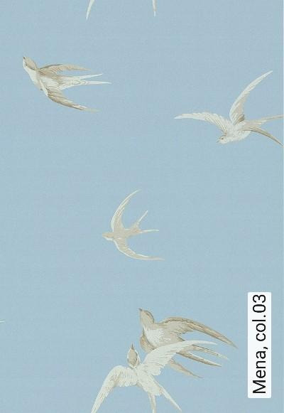 Mena,-col.03-Vögel-Klassische-Muster-Fauna-Grau-Anthrazit-Weiß-Hellblau