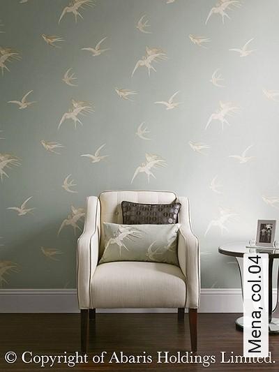 Mena,-col.04-Vögel-Klassische-Muster-Fauna-Grau-Creme-Hellbraun