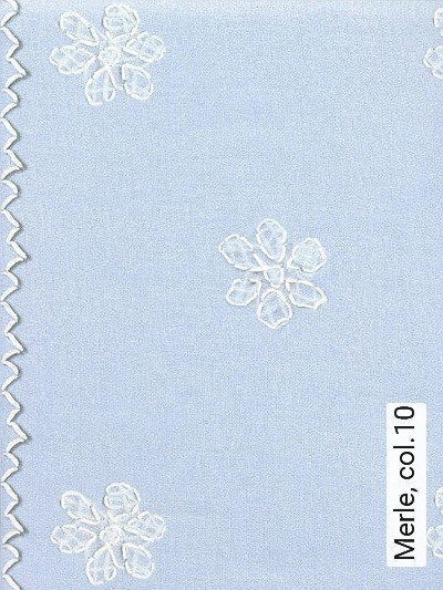 Merle,-col.10-Blumen-Stickerei-Moderne-Muster-Weiß-Hellblau
