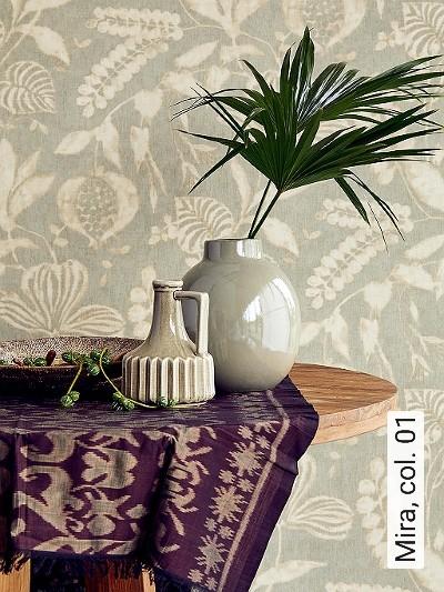 Mira,-col.-01-Blumen-Blätter-Früchte-Florale-Muster-Grau-Creme-Hellbraun