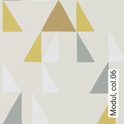 Modul,-col.06-Graphisch-Dreiecke-Grafische-Muster-Weiß-Creme-Ocker