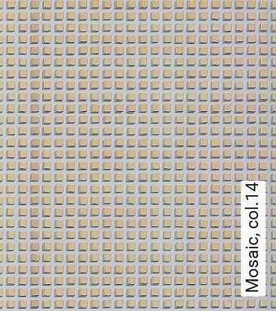 Mosaic,-col.14-Quadrate/Rechtecke-Graphisch-Grafische-Muster-Gold-Braun-Creme-Hellbraun