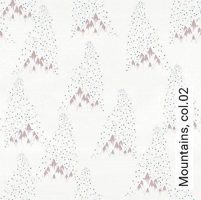 Mountains,-col.02-Berge-KinderTapeten-Blau-Rosa-Weiß