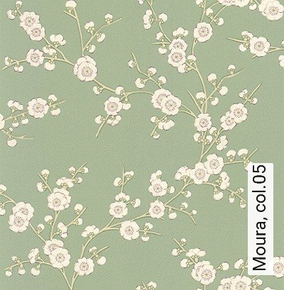 Moura,-col.05-Blumen-Äste-Florale-Muster-Grün-Creme-Hellblau
