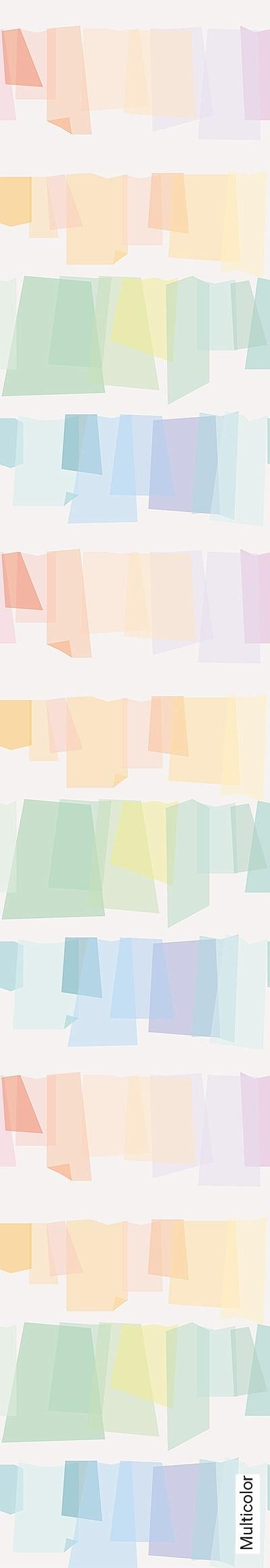 Multicolor-Schemen/Silhouetten-Moderne-Muster-Weiß-Multicolor