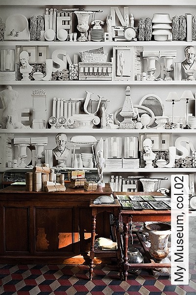 My-Museum,-col.02-Gegenstände-3D-Tapeten-tromp-l