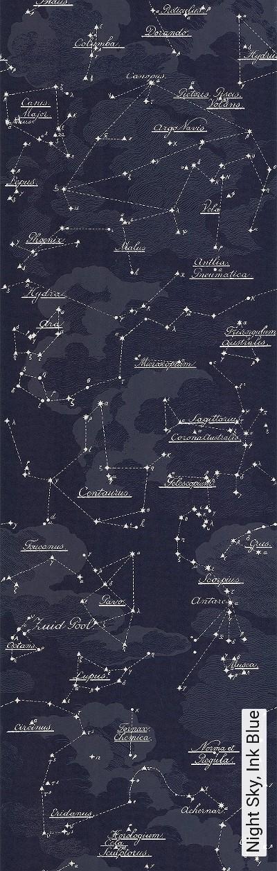 Night-Sky,-Ink-Blue-Wolken-Sterne-Moderne-Muster-Blau-Weiß