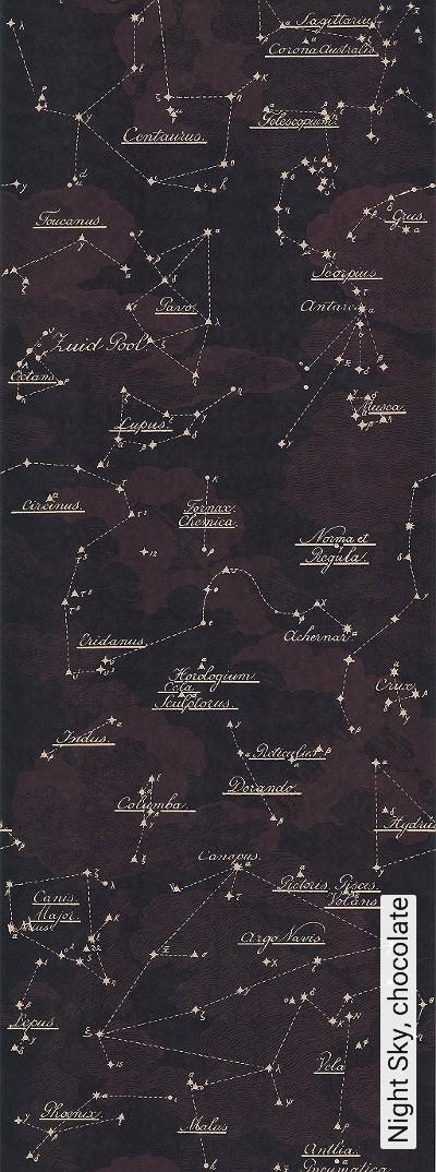 Night-Sky,-chocolate-Wolken-Sterne-Moderne-Muster-Braun-Creme
