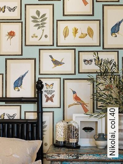 Nikolai,-col.40-Vögel-Bilderrahmen-Schmetterlinge-Moderne-Muster-Multicolor-mint