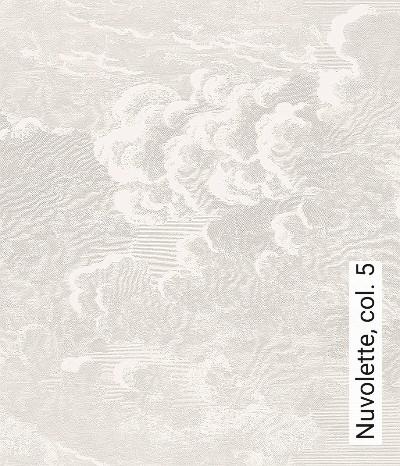 Nuvolette,-col.-5-Wolken-Zeichnungen-Moderne-Muster-Silber-Weiß