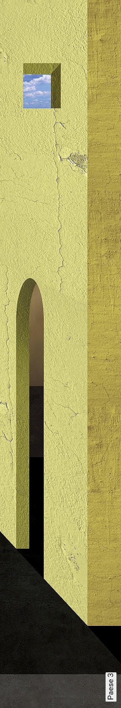 Paese-3-Landschaft-Wolken-Moderne-Muster-Gelb-Anthrazit-Hellblau
