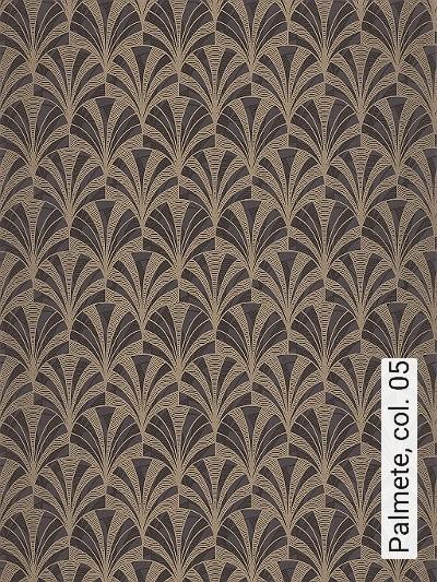 Palmete,-col.-05-Blätter-Art-Deco-Gold-Braun