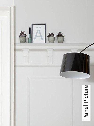 Panel-Picture-Gegenstände-Vertäfelung-FotoTapeten-Weiß
