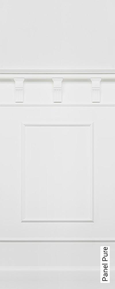 Panel-Pure-Vertäfelung-FotoTapeten-Weiß