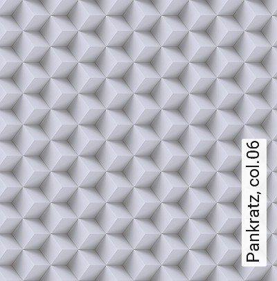 Pankratz,-col.06-Quadrate/Rechtecke-3D-Tapeten-Grafische-Muster-Grau-Creme