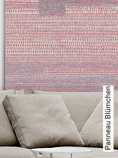 Panneau-Blümchen-Blumen-Zahlen-Moderne-Muster-Rot-Blau-Creme